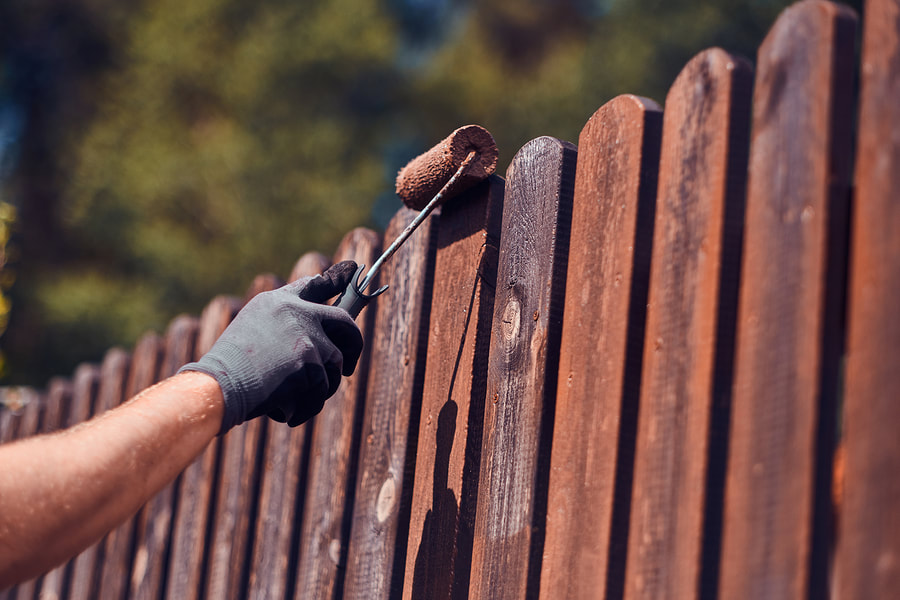 professional fence painting service